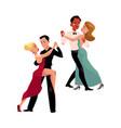 couples of professional ballroom dancers dancing vector image
