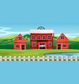 a saloon in rural landscape vector image vector image