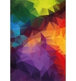 Abstract triangle mosaic colorful background vector image vector image