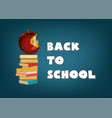 back to school abstract background template with vector image vector image