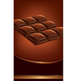 background of dark chocolate tables vector image vector image