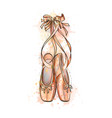 ballet shoes pointe shoes from a splash of vector image