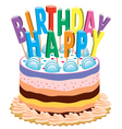 birthday cake with candles vector image vector image