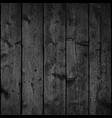 black realistic texture wood planks with structure vector image