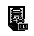cgi black glyph icon vector image