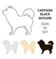 chow-chow icon in cartoon style for web vector image