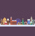 christmas europe city banner vector image