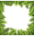 christmas frame with pine branches and shadow vector image vector image