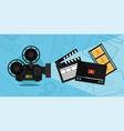cinema shooting and video vector image