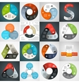 circle triangle infographics set template vector image vector image
