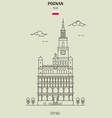 city hall in poznan vector image vector image