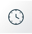 clock icon line symbol premium quality isolated vector image