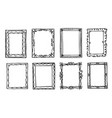 decorative frame ornate border or divider set vector image