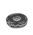 donut icon in retro style vector image