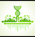 Ecology concept with DNA strand vector image vector image
