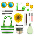 fashion accessories set 8 vector image vector image