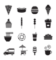 Fast Food Mono Icons Set vector image vector image