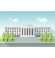 Front view of university or government building in vector image vector image