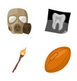 gas mask x-ray and other web icon in cartoon vector image vector image