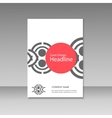Geometric abstract brochure templates Modern vector image vector image