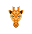 Giraffe African Animals Stylized Geometric Head vector image vector image