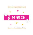 graphic design for the international womens day vector image vector image