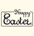 happy easter handwritten word typography logo vector image
