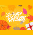 happy halloween greeting card template vector image vector image