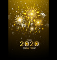 happy new year design gold fireworks vector image