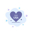 heart love american usa blue icon on abstract vector image vector image