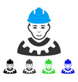 industrial builder flat icon vector image