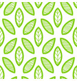 leaves pattern endless background seamless vector image vector image