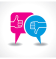 like and unlike symbol with message bubble vector image