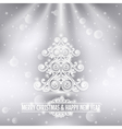 merry christmas happy new year holiday background vector image