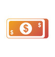 money banknote dollar cash currency icon vector image