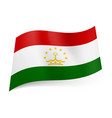 national flag of tajikistan red white and green vector image vector image