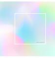 nice pastel hologram fluorescent background vector image vector image