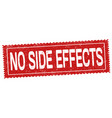 no side effects grunge rubber stamp vector image