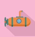 one person submarine icon flat style vector image vector image