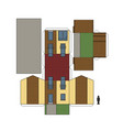 paper model of a house vector image vector image