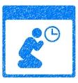 Pray Clock Calendar Page Grainy Texture Icon