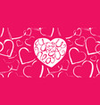 romantic hand drawn lettering on seamless backdrop vector image vector image