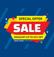 sale - concept banner vector image vector image