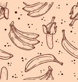 seamless pattern with bananas design element vector image vector image