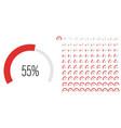 set circular sector arc percentage progress bar vector image vector image