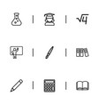 set of 9 editable teach outline icons includes vector image vector image