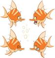 set of cartoon cute deep-water vector image vector image