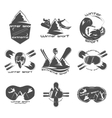 Set winter sport logo design template elements vector image vector image