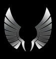 silver wing vector image
