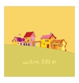 small village painted in cartoon style vector image vector image